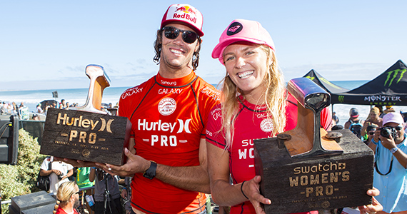 Jordy Smith e Stephanie Gilmore vincono a LowerTrestles