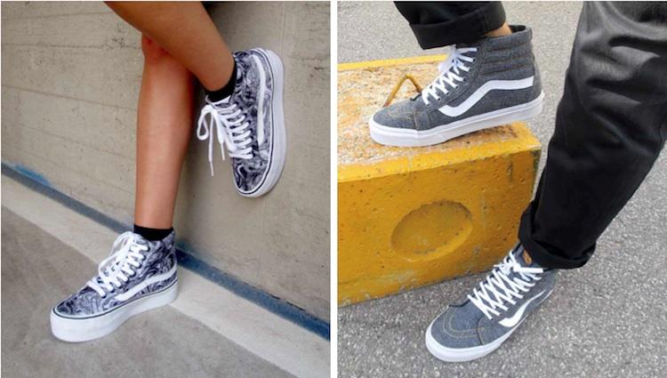 scarpe donna vans suola alta