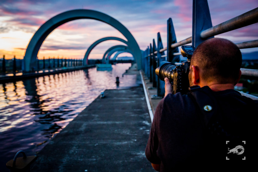Red Bull Photography - Falkirk Wheel - Scotland - Backstage Phot