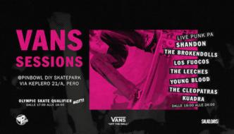 VANS SESSIONS: sabato 29 luglio @ Pinbowl DIY skatepark