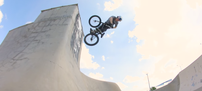 Riding the Black Pearl with a BMX