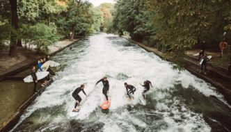 River Surfing @ Eisbach River  with Mick Fanning & Friends