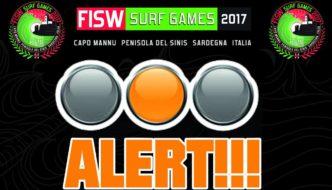 Semaforo Giallo per i FISW Surf Games 2017
