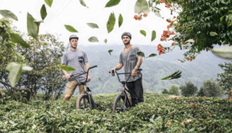 Sergio Layos and Arif Gül Ride a Tea Plantation