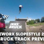 MTB Slopestyle track preview with Tyler McCaul & Matt Jones.   Crankworx Innsbruck 2018