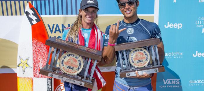 Courtney Conlogue & Kanoa Igarashi vincono il Vans US Open of Surfing 2018!