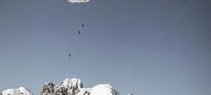 Il primo Zeppelin Ski Drop