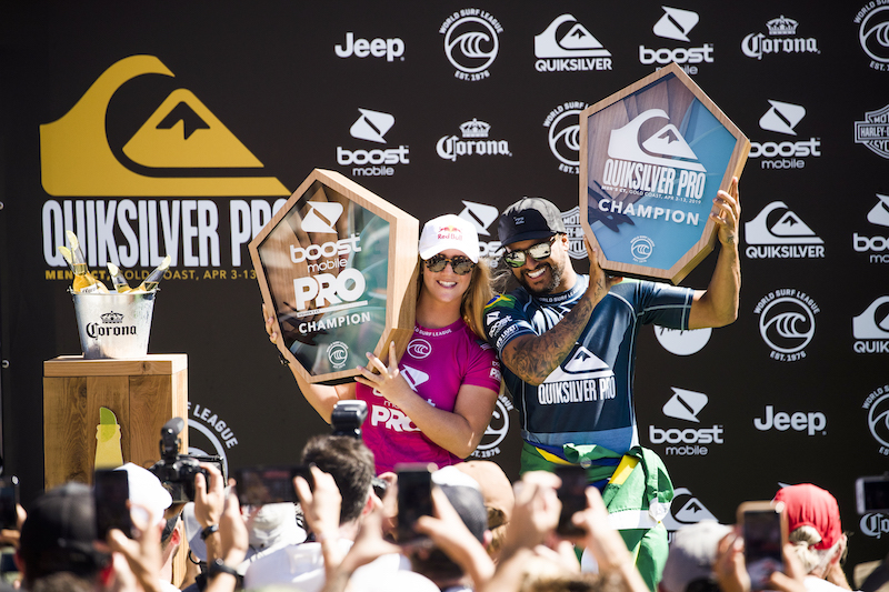 Italo Ferreira and Caroline Marks Win Quiksilver Pro and