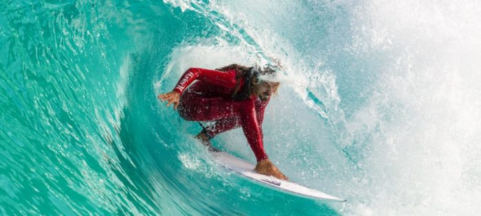 Rob Machado e sua figlia al Wavegarden Cove