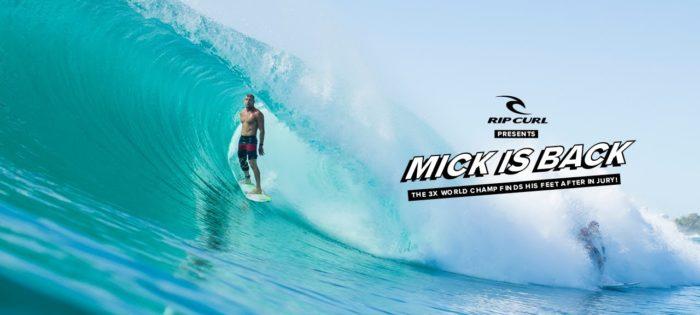 Mick Fanning is back!